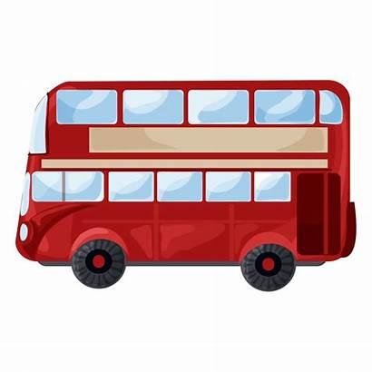 Bus London Clipart Decker Double Transparent Tour