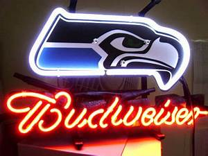 NFL Seattle Seahawks Budweiser 3D Neon Light Sign 12