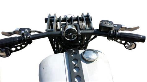Buy Chopper Low Profile Mirrors, Black Motorcycle In Long