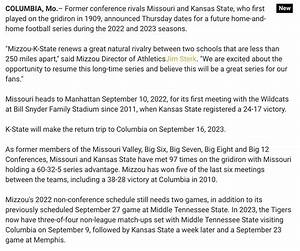 Missouri schedules non-conference home-and-home series ...