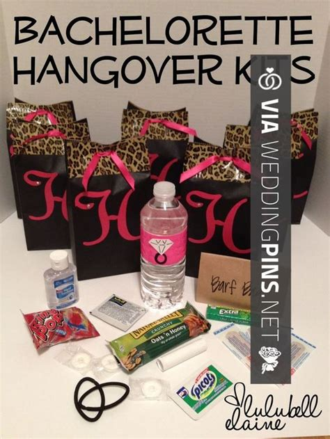 hot shower good for hangover brilliant bachelorette party diy party favor bags and