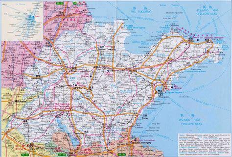 shandong province map maps  shandong