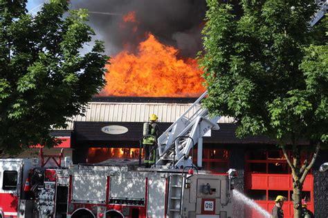 Structure Fire Destroys Surrey Tire Shop