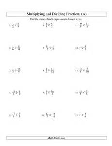 multiplying and dividing fractions a