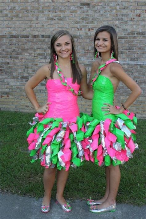 ideas  duct tape dress  pinterest recycled