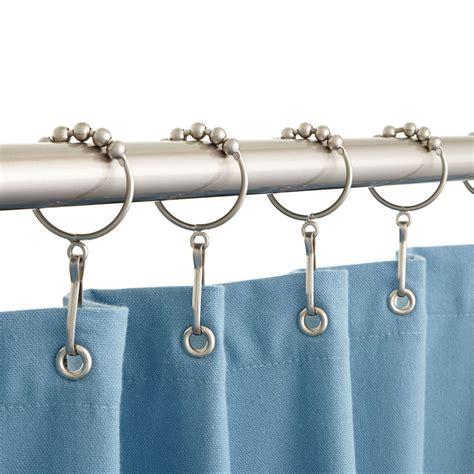 shower curtain hooks signature hardware roller shower curtain rings