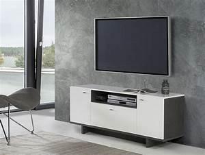 Lowboard Hochglanz Weiß : malvin lowboard 1 betongrau weiss hochglanz ~ Buech-reservation.com Haus und Dekorationen