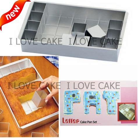 letter  number cake pan set cake decorating tools
