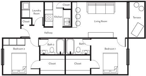 Fresh Two Bedroom Floor Plans  House Floor Ideas
