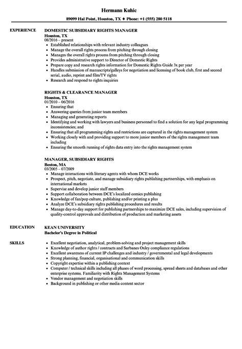 Right Resume by Rights Manager Resume Sles Velvet