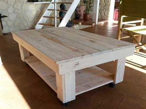 table basse pour salon creation palette