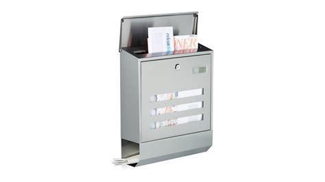 www briefkasten de briefkasten edelstahl mit zeitungsfach modern kaufen