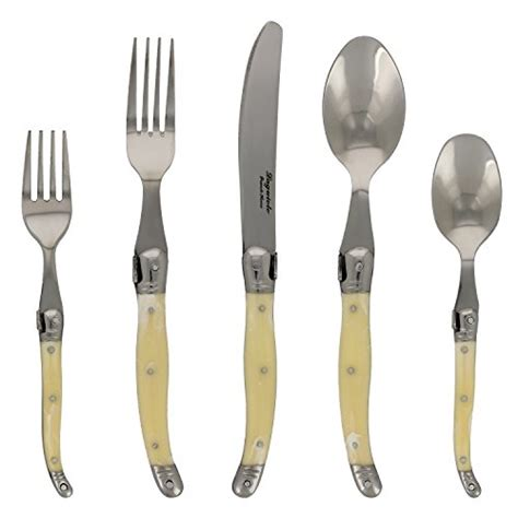 laguiole flatware ivory faux llc french piece flatwares dubost forks jean