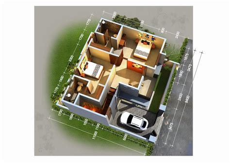 denah  apartemen minimalis  lantai  kamar rumah impian