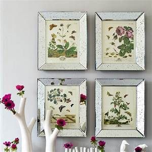 Classic Family Room with Mirrored Wall Photo Frames, and