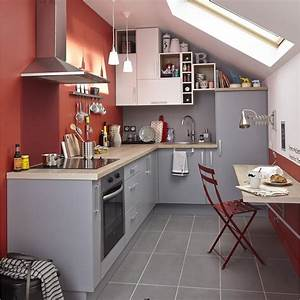 Meuble Cuisine Leroy Merlin : meuble de cuisine gris delinia d lice leroy merlin ~ Melissatoandfro.com Idées de Décoration