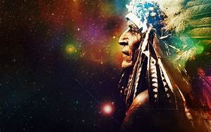 Space stars universe background Indian feathers native ...