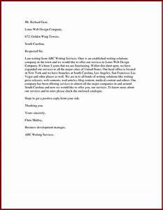Sample Proposal Letter For Services 15 Offer Sendletters Info