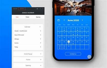 Calendar Google Widget Website Glance Visitors Island