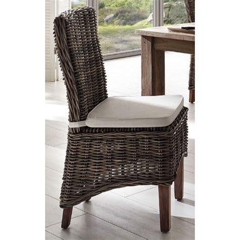 Kubu Dining Chair Cushion by Halifax Morin Kubu Rattan Dining Chair With Cushion Zizo