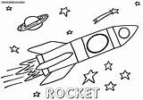 Rocket Coloring Pages Space Colorings Print sketch template