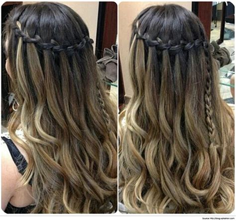 Waterfall Braid For Long Straight Hair Sleek Long