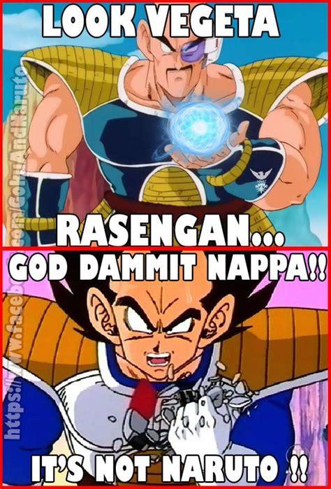 Nappa Meme - god dammit nappa it s not naruto pokemadiva s board of epic anime memes pinterest posts