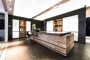 Ilot Bar Cuisine : ilot central cuisine bois massif cuisine en image ~ Melissatoandfro.com Idées de Décoration