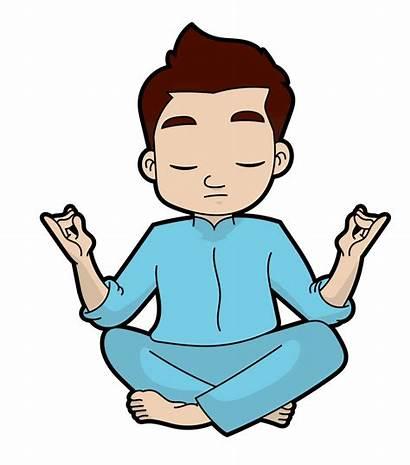 Yoga Cartoon Clipart Meditation Expert Face Animation