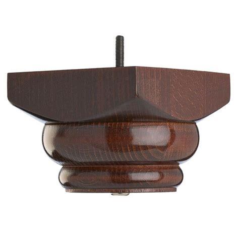 wooden sofa foot mm  mm mahogany finish square foot
