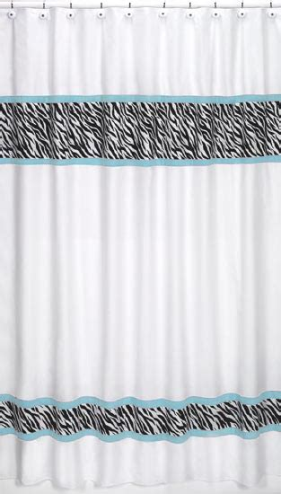 Sweet Jojo Zebra Curtains by 1000 Ideas About Turquoise Shower Curtains On