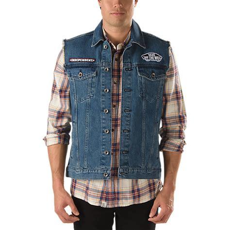 denim vest vans x independent denim vest shop jackets at vans