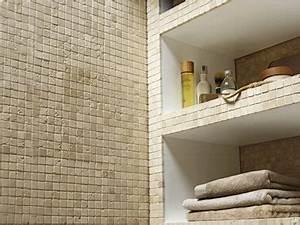 Couleur Mur Salle De Bain : mosa que sol mur salle de bain en pierre couleur ivoire ~ Dode.kayakingforconservation.com Idées de Décoration