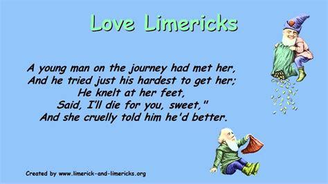 limericks exle limerick poems