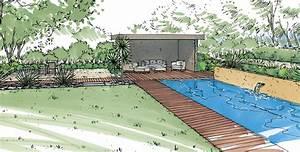 campagne de venelles un jardin contemporain mediterraneen With superb amenagement jardin autour piscine 3 nos realisations de jardin et amenagement dexterieur en