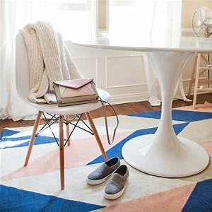 Table A Manger Ronde Blanche : tapis salle manger 50 id es pour choisir la forme ~ Teatrodelosmanantiales.com Idées de Décoration