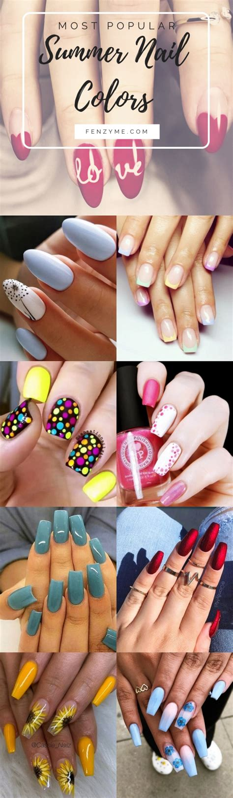 most popular nail color 40 most popular summer nail colors of 2019 fashion enzyme