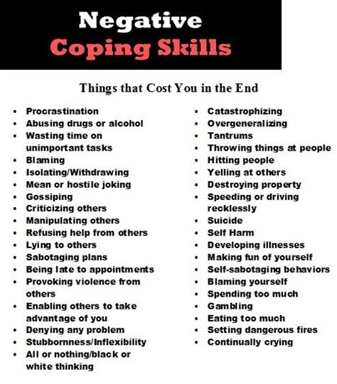 negative qualities in resume 25 best ideas about coping skills on change coping skills for depression