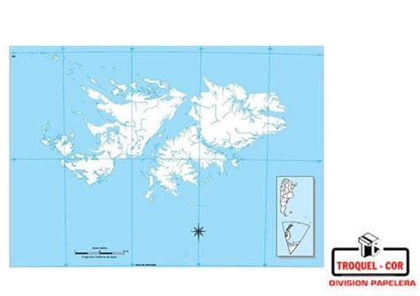 Mapa Político Nº3 Islas Malvinas Rivadavia