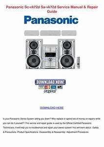 Panasonic Sc Vk72d Sa Vk72d Service Manual Re By