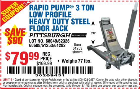 25 Ton Floor Harbor Freight by Harbor Freight Tools Coupon Database Free Coupons 25