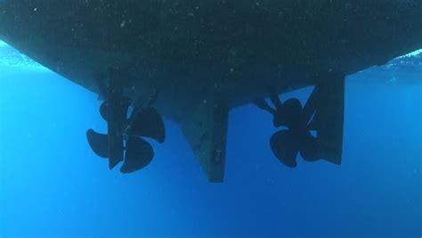 Boat Propeller Underwater by Boat Propeller Underwater Stock Footage