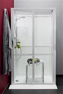photos de douches senior et pmr douches et baignoirescom With porte de douche coulissante avec rampe lumineuse pour salle de bain