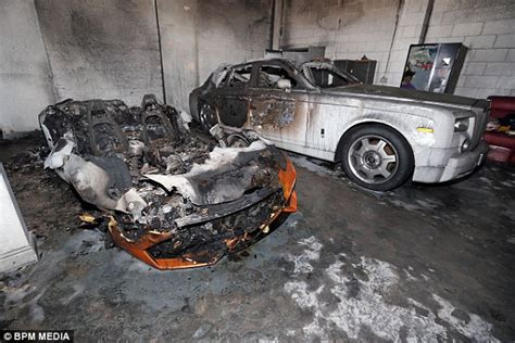 Lamborghini And Rollsroyce Destroyed In Suspected Arson
