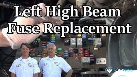 left high beam fuse replacement youtube
