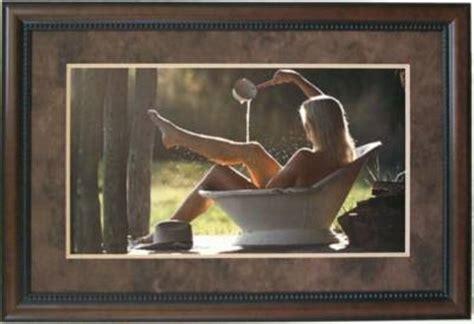 cowgirl  tub bathroom framed art wall decor art