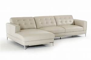 Refined modern genuine italian sectional elizabeth new for Ditto grey sectional sofa