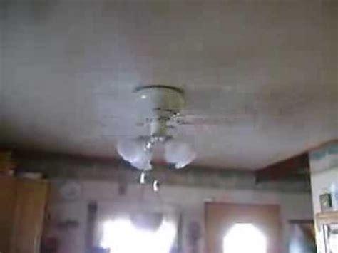 2001 hunter low profile ii ceiling fan youtube