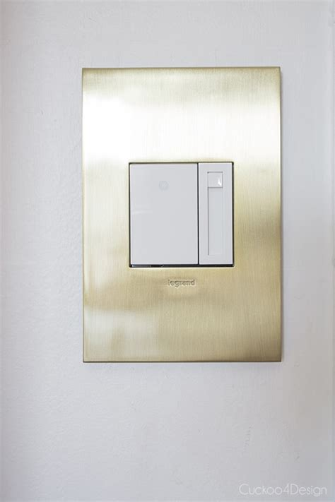 Le Touch Dimmer by New Brushed Brass Outlets And Switches Cuckoo4design