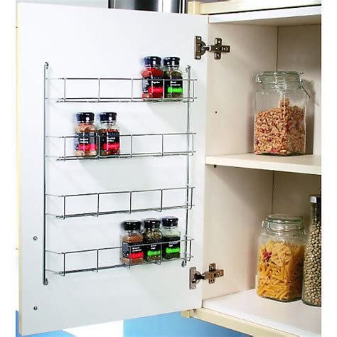 kitchen cupboard storage racks uk wickes chrome 4 tier spice rack 500mm wickes co uk 7907